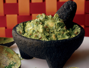 eating guacamole bowl